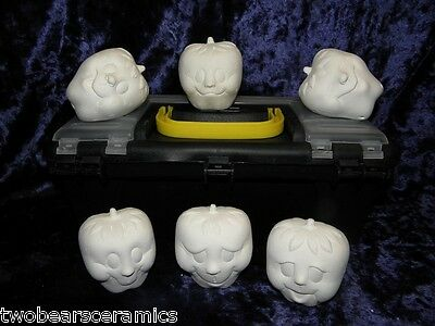 """""""My Chuckleberry Noggin x 5 Painting Kit"""" Ceramic Bisque Holiday Fun"""