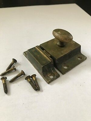 Antique Shabby Cast Brass Art Craft Victorian Cabinet Cupboard Door Latch Lock