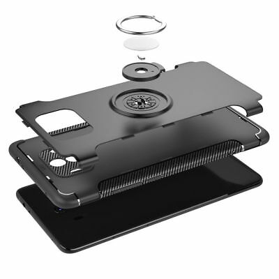 For Huawei Mate 10 Pro Shockproof Case Stand + Tempered Glass Screen Protector