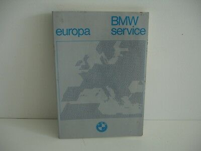 BMW service Europe, Europa 1982 1983   195 pages