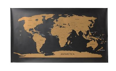 XXL World Map Scratchable Personalized Travel Tracker Wall Poster scratch off