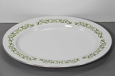 "One Bell Flower Oval Serving Platter 12 1/4"" - Fine China of Japan"