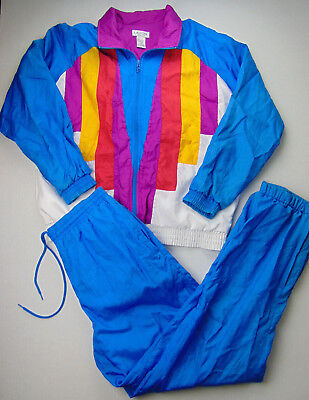 VTG Lavon Cheerful Corp Womens Size Medium 80s 90s Color Block NOS Track Suit