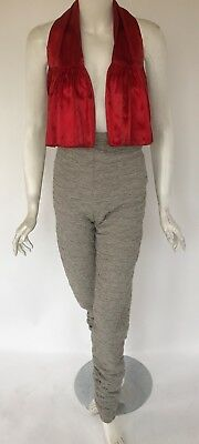 Vintage 1980s Patrick Kelly Long Quilted High Waist Pants