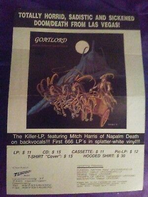 GOATLORD Reflections of the Solstice 90's PROMO FLYER usa TURBO MUSIC poland