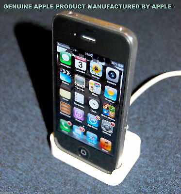 Genuine Apple iPhone 2G / 4 / 4S White Desktop Charging Dock Sync Station Pod