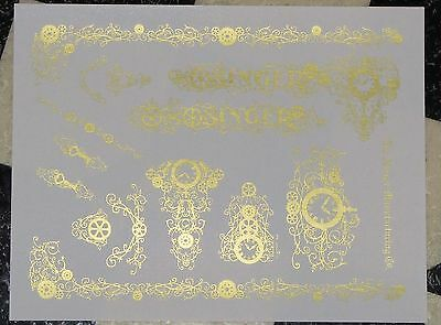 Waterslide Replacement Decals for an Antique Singer Sewing Machine model 99