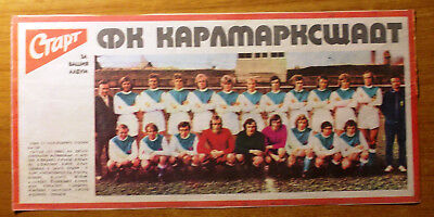 card Karl-Marx-Stadt Chemnitz 1970s Football DDR from Start newspaper bild
