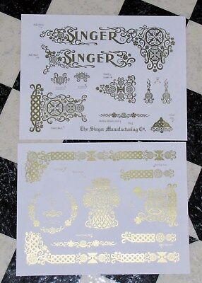 Waterslide Replacement Decals for an Antique Singer Sewing Machine model 66