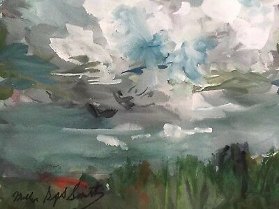 Modern Contemporary 8x10 Watercolor Millie Gift Smith Abstract