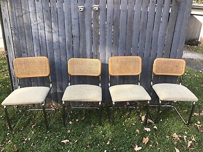 Marcel Breuer Cesca style chairs - set of 4 - excellent condition