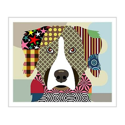 Bernese Mountain Dog Pop Art Pet Animal Lover Print Puppy Portrait Painting