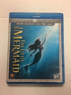 The Little Mermaid (Blu-ray/DVD, 2013, 3-Disc Set, Diamond Edition