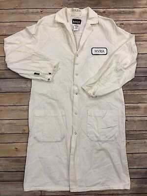 Bulwark FR Flame Resistant EXCEL FR Lab Coat White Unisex Work Uniform 11.2 ATPV