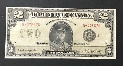 1923 Dominion of Canada $2 Dollar Banknote-Campbell Clark