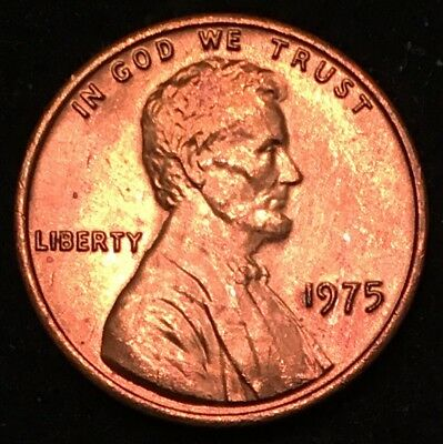 1975 1C RD Lincoln Cent