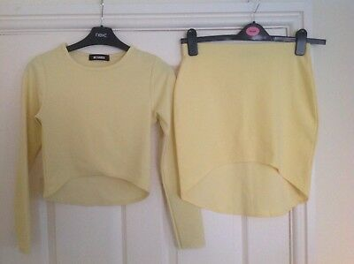 Ladies top skirt outfit size 6-8 miss guided