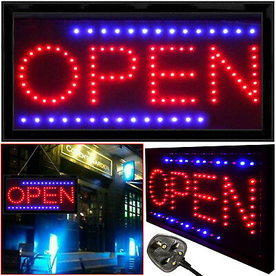 LED Shop Open Sign For Club Pup Restaurant Window Display Flashing Neon Light