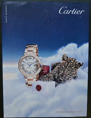 Original Werbung Cartier Ballon Bleu advertising Leopard