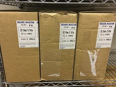 """New,Old Stock Mitsubishi Silvermaster SLM-FIII 13""""x200' 8mil Polyester Plate"""