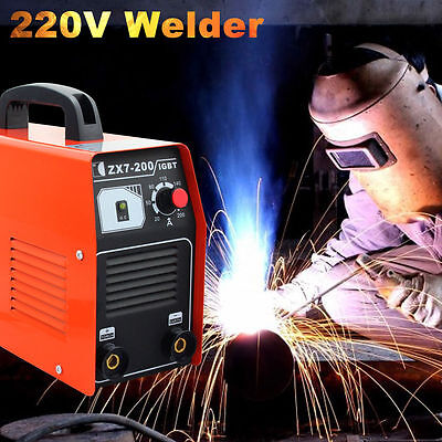 200 AMP STICK/ARC/MMA DC Inverter Welder IGBT Dual Input Machine Light Weight