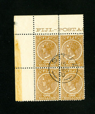 Fiji Stamps # 44 Superb Used Block of 4