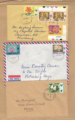 Sarawak Malaysia Penrissen Camp 3 different postmarks on covers