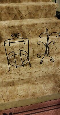 Longaberger Foundry Wrought Iron Mug/Cup Tree/Stand/Rack~Holds 6 Mugs/Cups