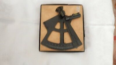 Antique Boyce-Meier Navy Sextant in Original Box with Instructions