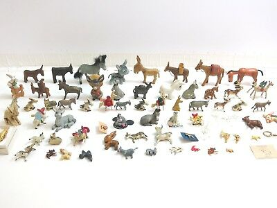 Lot Of 66 Vintage Donkey / Mule Mixed Figurine Collection L4