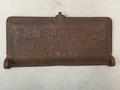Antique Vintage Frost & Wood Cast Iron Machinery Tool Box Lid Cover 241 Canada