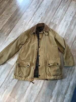 Barbour Beaufort Sporting Waxed Cotton SANDSTONE size 40. Great condition