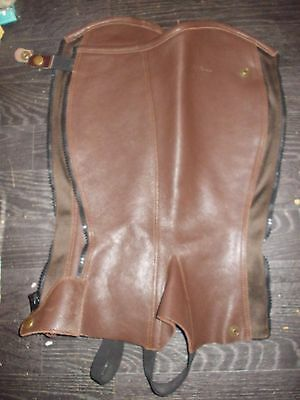 dy`on classic leather half chaps