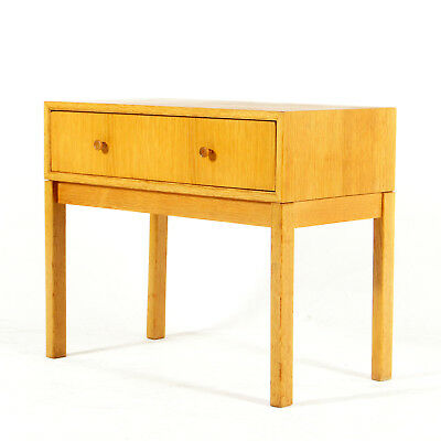 Retro Vintage Danish Modern Oak Bedside Table Cabinet Chest of Drawers 1970s