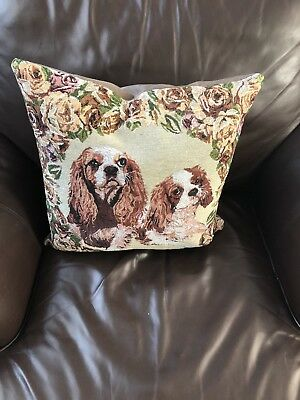 cavalier king charles spaniel decorative pillow.