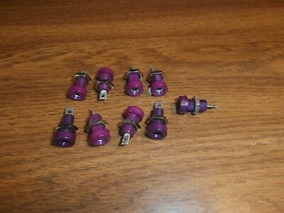 Lot/9 Vtg HH Smith 1509 Violet Banana Panel Mount Jack,NOS