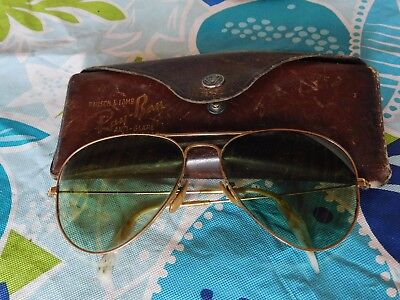 Ray - Ban Bausch & Lomb Ww2 Pilots Sunglasses In Leather Case
