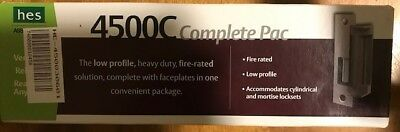 HES 4500C-12/24D-630 Electric Strike Complete Pac with Faceplate Option Kit