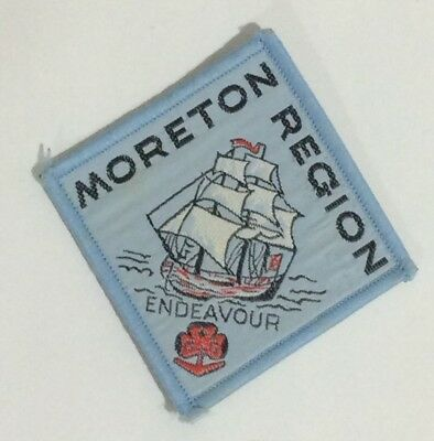 Moreton Region Girl Guides Patch,moreton Region Endeavour Girl Guides Patch