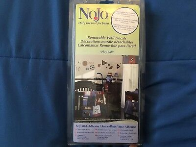 "NoJo Removable Wall Decals ""PLAY BALL"" *NEW IN PACKAGE*"