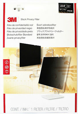 3M 22 Inch Privacy Filter PF22.0W For Widescreen Desktop LCD Monitor 22""