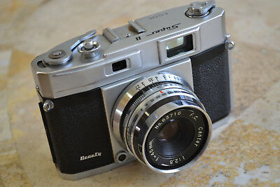 Beauty Super II F2.8 Rangefinder 35mm Film Camera 1957 FREE Shipping