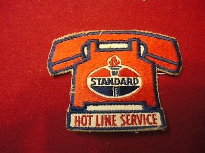 "Vintage ""standard Hot Line Service"" Gas Station Patch Nr"