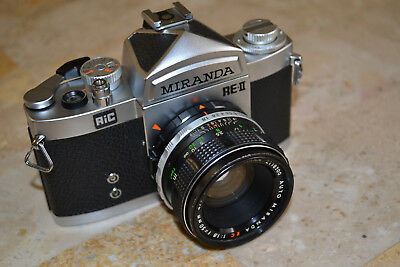 Miranda RE-II 35mm SLR F1.8  W/Case FREE Shipping- For Display
