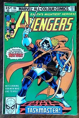 "Bronze age Marvel comic ""The Avengers"" issue 196 1980"