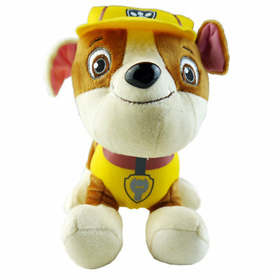 1pc 20cm RUBBLE - Paw Patrol Rescue Dog Cute Pup Stuffed Soft Plush Kid Toy