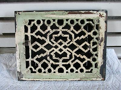 Nice Antique Heat Register Vent Grille Grate w Louvers, 6 X 8, Salvage