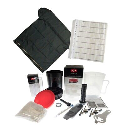 MAXI Film Developing Kit with Tank, Thermometer, Jugs, Cassette Tool, Loupe etc