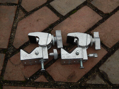 Lot Two (2) Manfrotto Art. 035 Super Clamps in Chrome