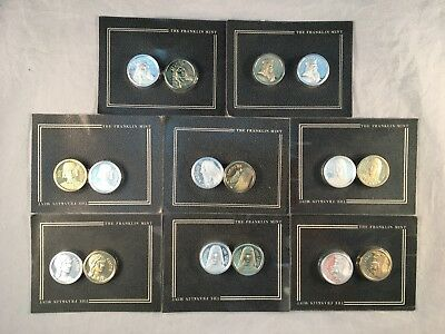 Franklin Mint 1987 Egyptian Commemorative Coins Gold And Silver Plated Sealed